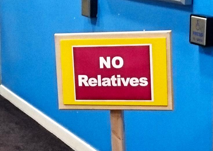 no relatives poster