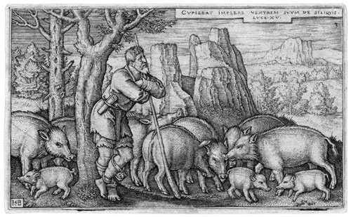 engraving of the Prodigal son